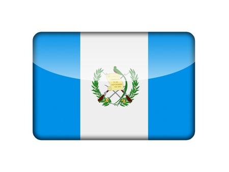 The Guatemala flag in the form of a glossy icon  photo
