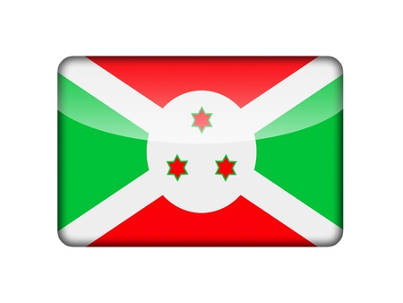 The Burundi flag in the form of a glossy icon  photo