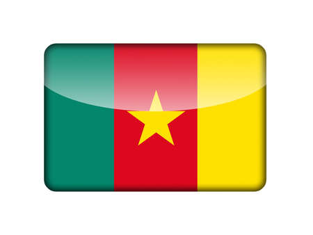 cameroonian: The Cameroonian flag in the form of a glossy icon
