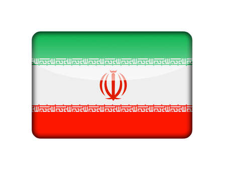 aruba flag: The Iranian flag in the form of a glossy icon  Stock Photo