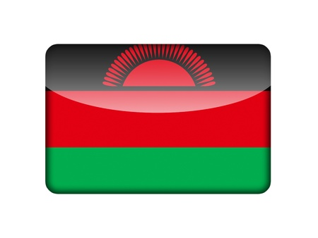 malawi flag: The Malawi flag in the form of a glossy icon