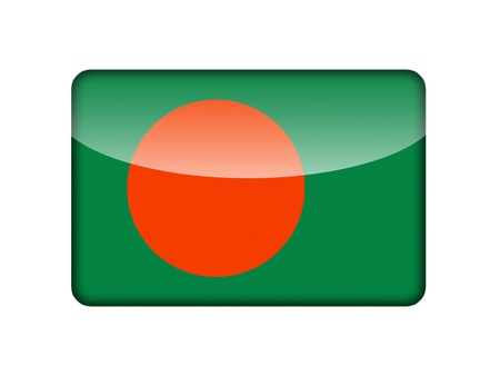 The Bangladesh flag in the form of a glossy icon  photo