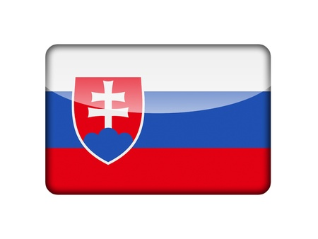 aruba flag: The Slovakia flag in the form of a glossy icon