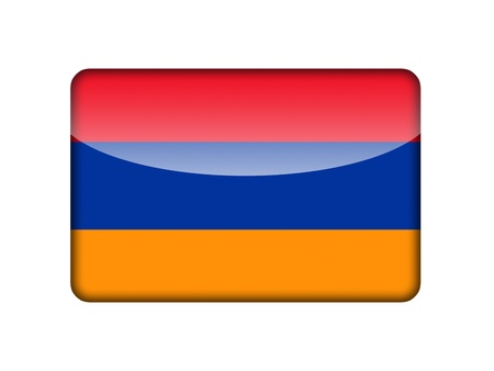 The Armenian flag in the form of a glossy icon  photo
