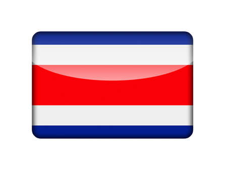 aruba flag: The Costa Rica flag in the form of a glossy icon
