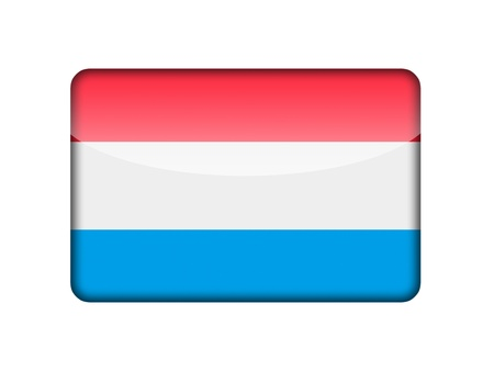 The Luxembourg flag in the form of a glossy icon  photo