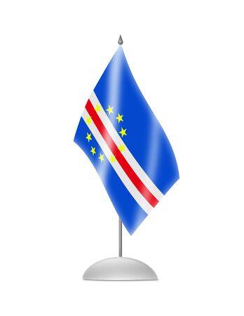 cape verde: The Cape Verde flag  Table Flag  Isolated on white