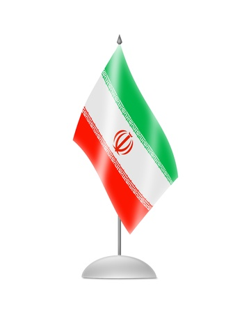 iranian: The Iranian flag  Table Flag  Isolated on white