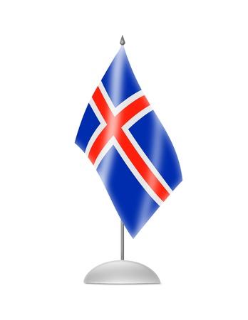 icelandic flag: La bandera de Islandia Tabla pabell�n aislado en blanco