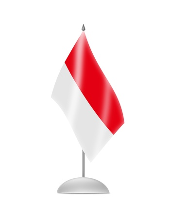 the indonesian flag: The Indonesian flag  Table Flag  Isolated on white