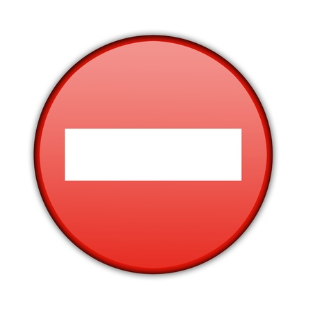 restrictions: Illustration of a traffic sign - No Entry  Isolated