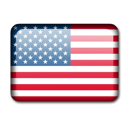 Glossy icon in the style of the USA flag  photo