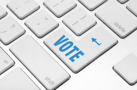 concept  Vote key on the computer keyboard photo