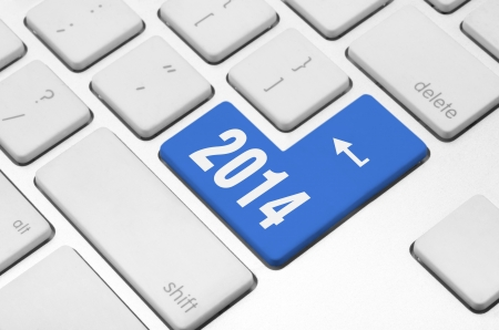 New year concept  2014 key on the computer keyboard Stock Photo - 20612312