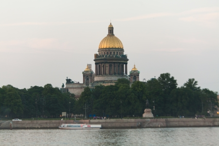 isaac s: Saint Isaac s Cathedral and Neva river  Saint-Petersburg, Russia  Stock Photo