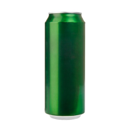 Green aluminum can isolated on white  Photo Stock Photo