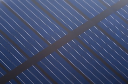 close up solar cell battery harness energy of the sun  selective focus photo
