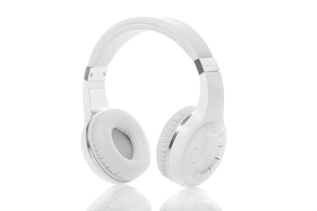 Wireless headphones isolated on a white background. photo