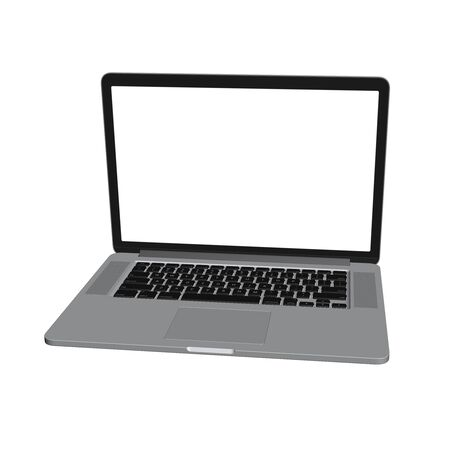 laptop isolated: 3d render of laptop. isolated on white background Stock Photo