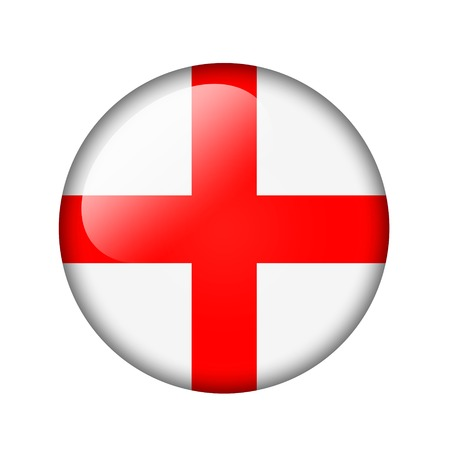 The England flag. Round glossy icon. Isolated on white background. Stock fotó