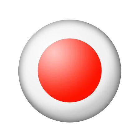 matte: The Japan flag. Round matte icon. Isolated on white background. Stock Photo