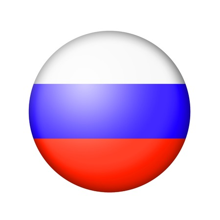 matte: The Russian flag. Round matte icon. Isolated on white background. Stock Photo