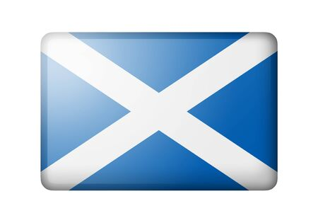 matte: The Scotland flag. Rectangular matte icon. Isolated on white background. Stock Photo