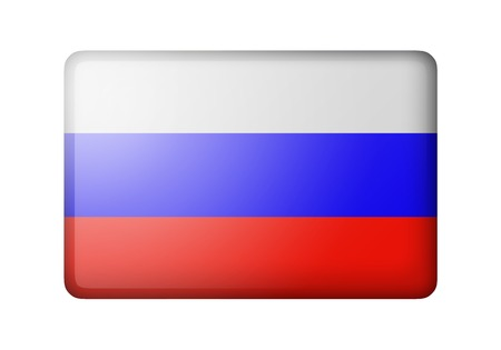 matte: The Russian flag. Rectangular matte icon. Isolated on white background.