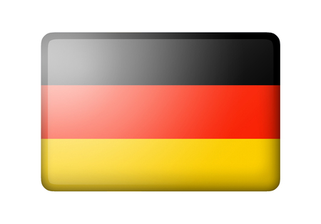 matte: The German flag. Rectangular matte icon. Isolated on white background. Stock Photo