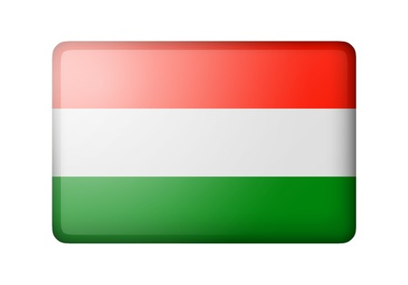matte: The Hungarian flag. Rectangular matte icon. Isolated on white background.