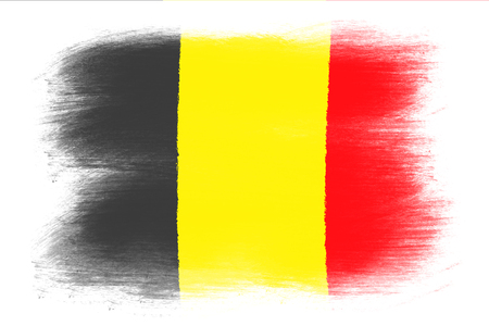 The Belgian flag - Painted grunge flag, brush strokes. Isolated on white background. Imagens - 51968496