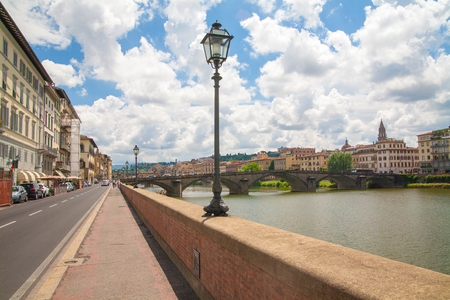 river arno: The embankment of river Arno. Italy, Florence