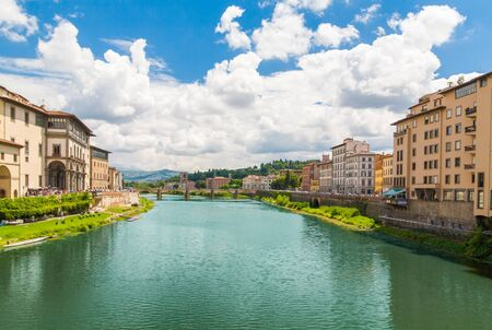 arno: The embankment of river Arno. Italy, Florence