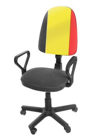 The Belgian flag Stock Photo