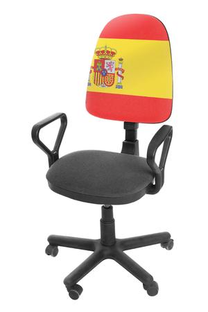 The Spanish flag Stock Photo