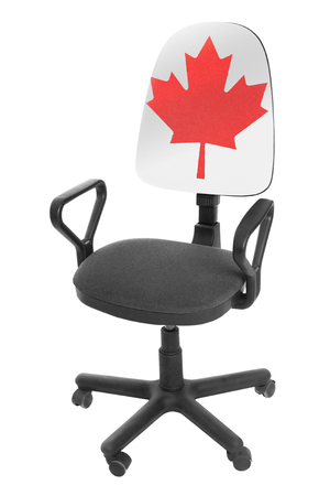 The Canadian flag Stock Photo