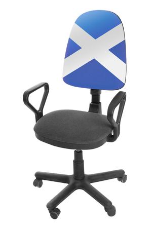 The Scotland flag Stock Photo