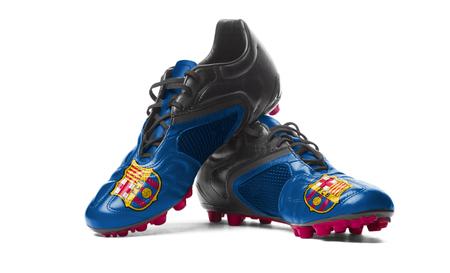 FC Barcelona - football boots. Editorial