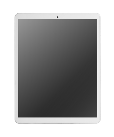 Moderne witte tablet pc Stockfoto