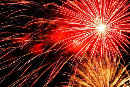 gaithersburg: light of firework 4th of July 1999 Fairground at Gaithersburg USA
