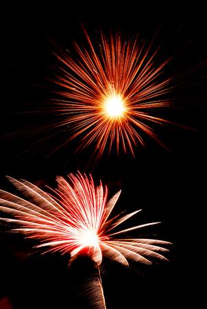 fairground: light of firework 4th of July 1999 Fairground at Gaithersburg USA