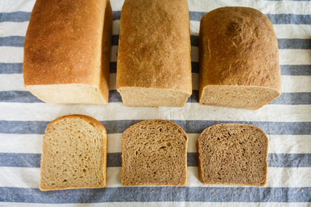 artisan bakery: Mixed rye-wheat whole grain homemade sourdough bread
