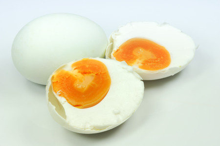 salted egg isolate on white Stock Photo - 65156679