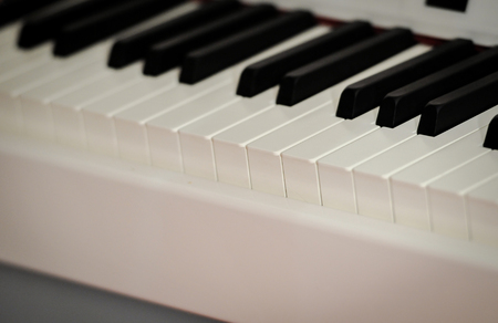 piano closeup: on digital piano. Close-up. Small depth of field.