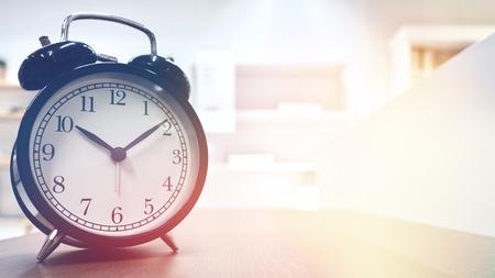 Retro alarm clock with vintage color style