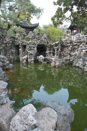 rockery: Rockery and pond in the garden