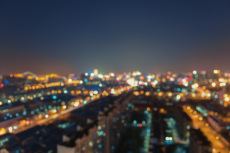 abstract city nightscape background