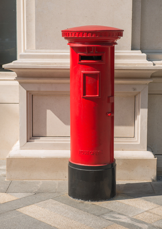 Old street red mailbox