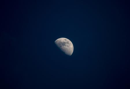 moon in the dark sky