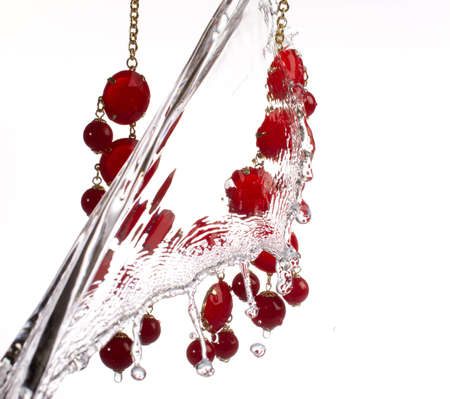 Jewelry with water splash  photo